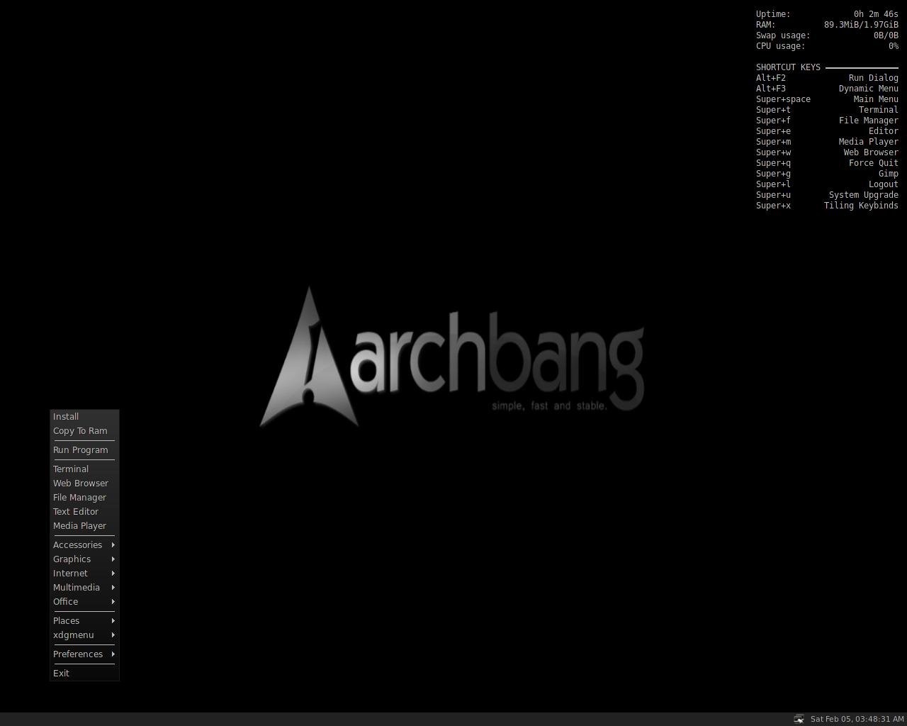 Arch Bang Linux